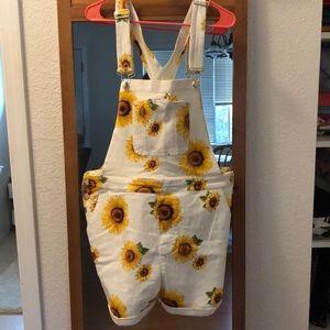 Sunflower short overalls